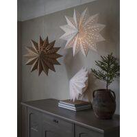 Papierstern Weihnachtsstern ALFA Star braun Ø50cm