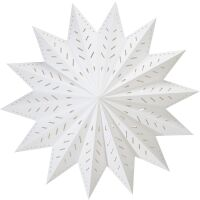 Papierstern Weihnachtsstern ALFA Star weiss Ø60cm