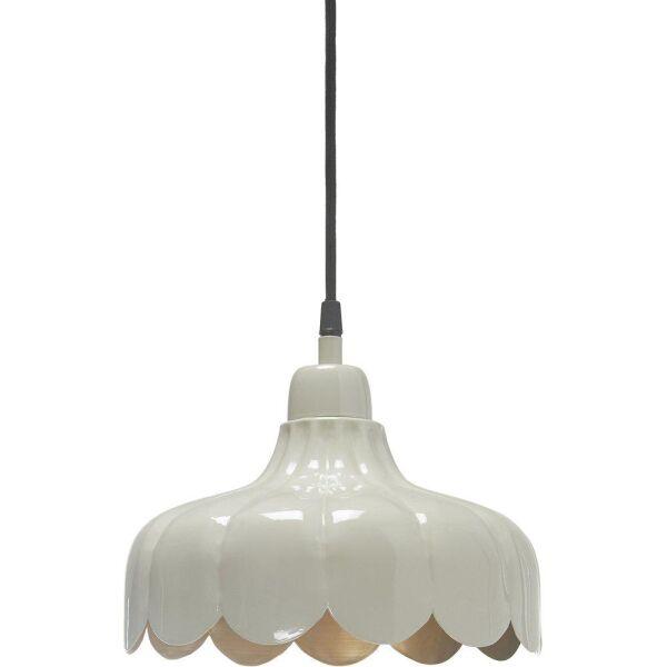 Kleine Fensterlampe WELLS Ø24 cm Creme/Gold