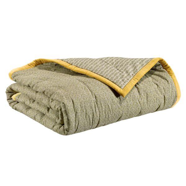 Bettüberwurf TARA 100% Baumwolle 240x260 cm Absynthe