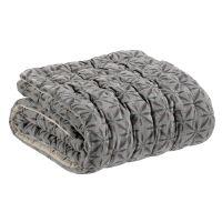 Bettüberwurf JADE 100% Baumwolle 160x160 cm Ecume