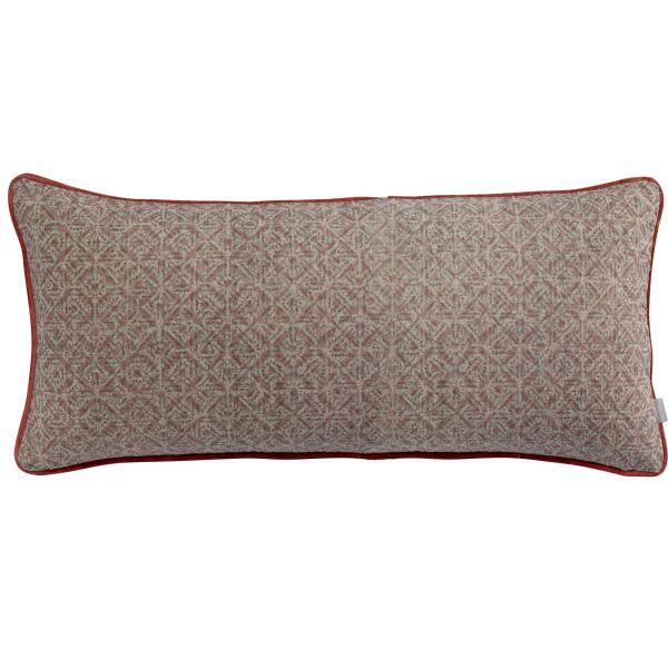 Kissen TARA 100% Baumwolle 55x110 cm Tomette