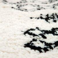 Teppich SORA Berber-Muster Creme/schwarz 160x230 cm