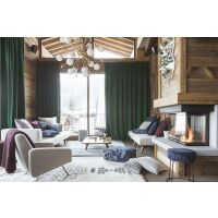 Teppich SORA Berber-Muster Creme/schwarz 200x290 cm