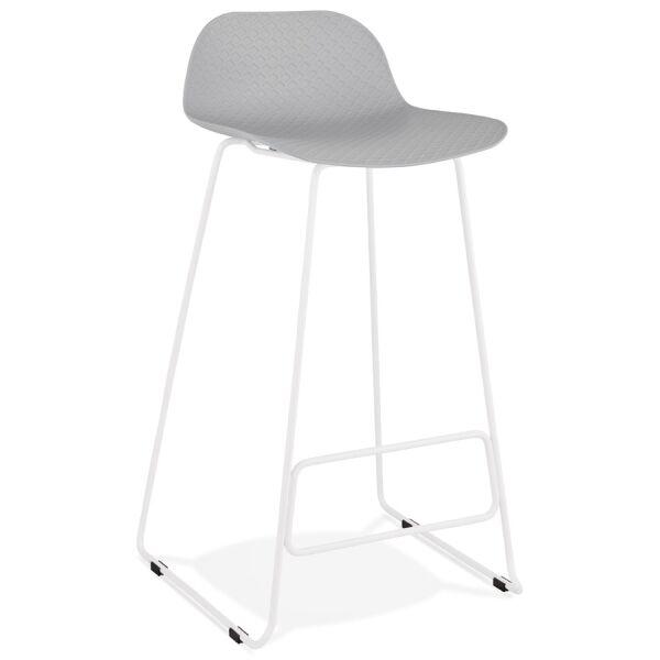 Barhocker SLADE Kunststoff Weiß/Grau