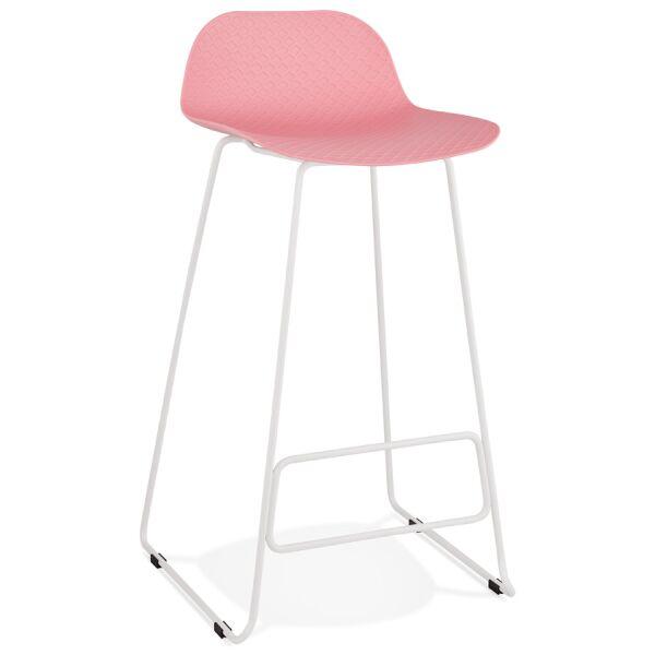 Barhocker SLADE Kunststoff Weiß/Rosa