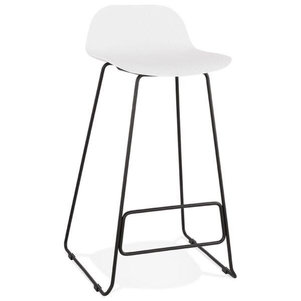 Barhocker SLADE Kunststoff Schwarz/Weiß
