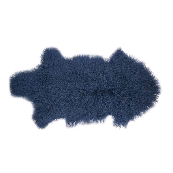 Schaffell Mongolia Blau