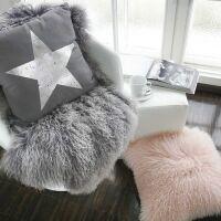 Schaffell Mongolia Grau/weiß