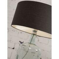 Tischlampe MURANO mit Öko-Leinenschirm, klein Schwarz