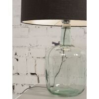 Tischlampe MURANO mit Öko-Leinenschirm, klein Dark Grey