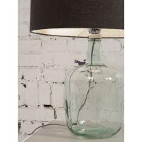 Tischlampe MURANO mit Öko-Leinenschirm, klein Dark Linen
