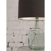 Tischlampe MURANO mit Öko-Leinenschirm, klein Grey