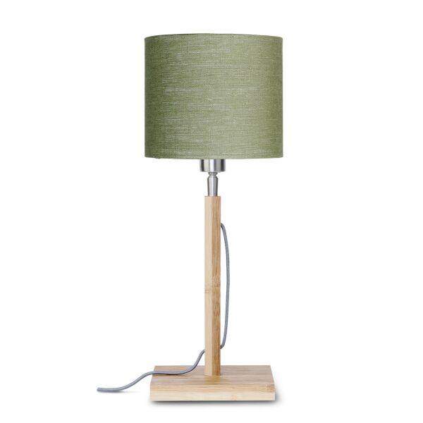 Tischlampe FUJI Bambus/Leinen Green Forest