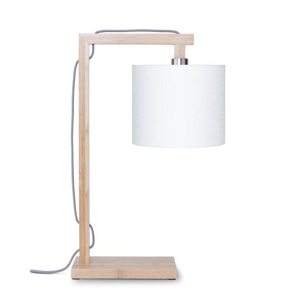 Tischlampe HIMALAYA Bambus/Leinen
