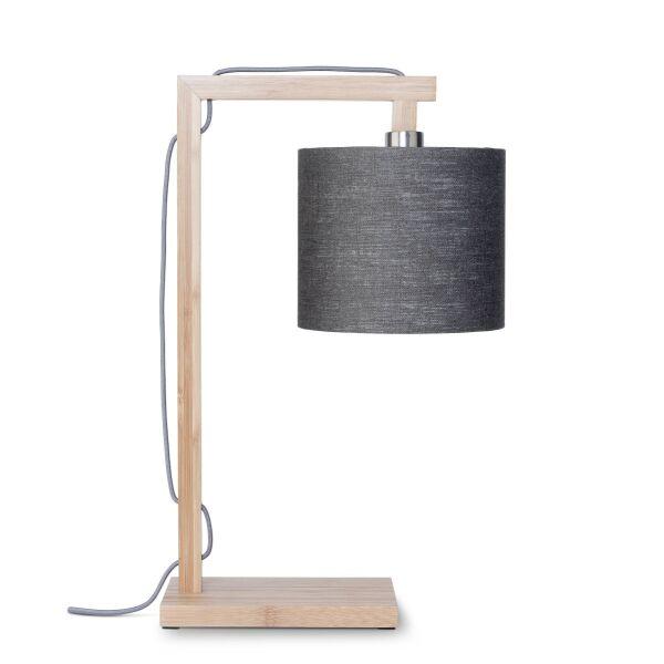 Tischlampe HIMALAYA Bambus/Leinen Dunkelgrau