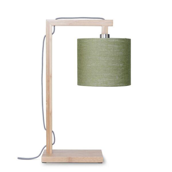 Tischlampe HIMALAYA Bambus/Leinen Green Forest