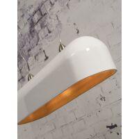 Hängelampe HALONG aus Bambus, oval Weiß