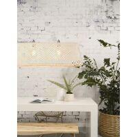 Hängelampe KOMODO aus Bambus weiß