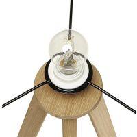 Stehlampe TRIVET grau-Natur