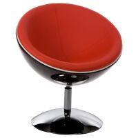 Dreh-Sessel SPHERE schwarz/rot