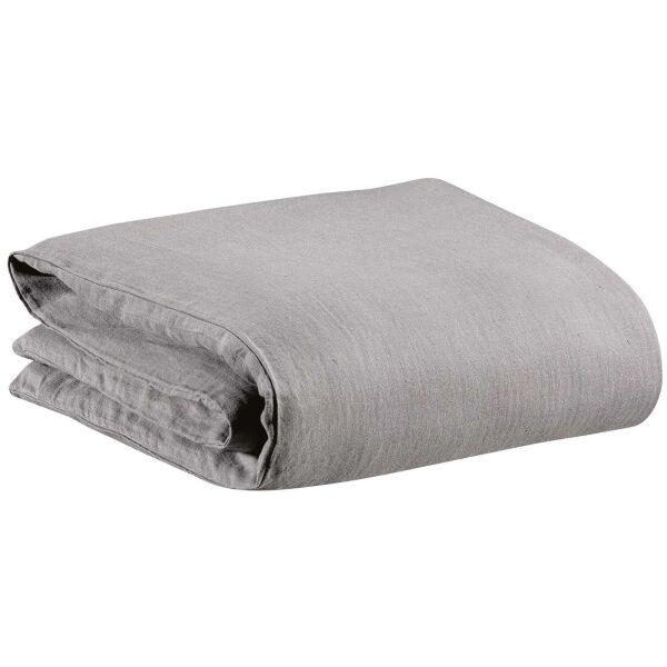 Bettwäsche ZEFF 100% Leinen Stonewashed Grau 140 x 200 cm