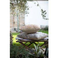 Kissen ROSALINE 45x45 cm 100% Baumwolle Ecume