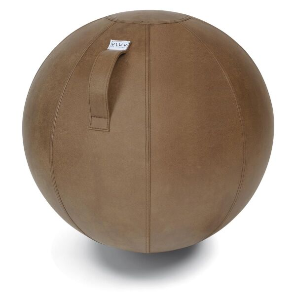 VLUV® VEEL Sitzball aus Kunstleder Cognac