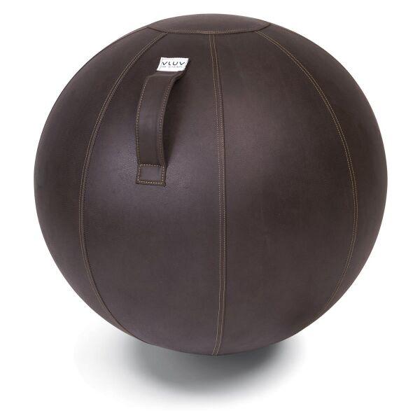 VLUV® VEEL Sitzball aus Kunstleder Mokka