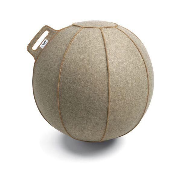 VLUV® VELT Sitzball aus Filz Ø 60-65 cm Greige Melange/Braun