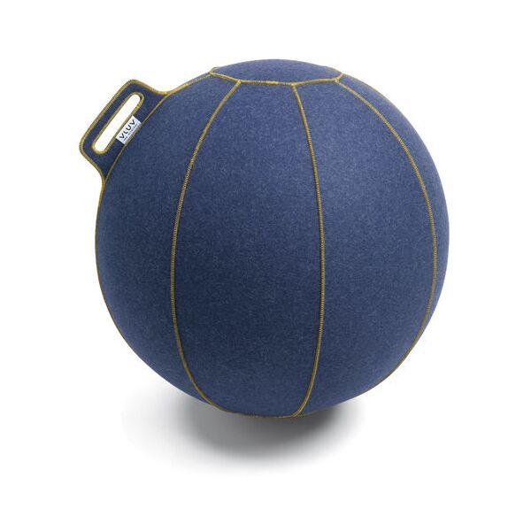 VLUV® VELT Sitzball aus Filz Ø 60-65 cm Jeans Melange/Gold