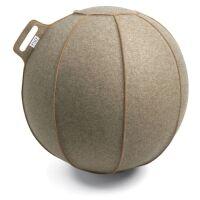 VLUV® VELT Sitzball aus Filz Ø 70-75 cm Greige...