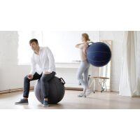 VLUV® VELT Sitzball aus Filz Ø 70-75 cm Greige Melange/Braun