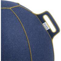 VLUV® VELT Sitzball aus Filz Ø 70-75 cm Jeans...