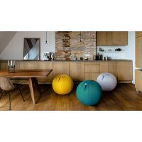VLUV® LEIV Stoff-Sitzball Canvas Ø 50-55 cm Ruby