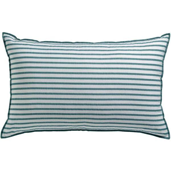Kissen Apala gestreift 100% Baumwolle Lichen 65 x 40 cm