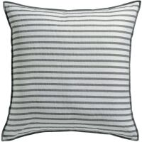 Kissen Apala gestreift 100% Baumwolle Perle 45 x 45 cm