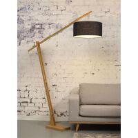 Stehlampe Montblanc aus Bambus und Leinen Blue Denim