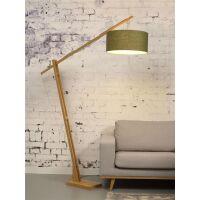 Stehlampe Montblanc aus Bambus und Leinen Green Forest