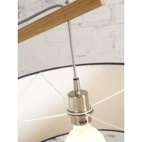 Stehlampe Montblanc aus Bambus und Leinen Hellgrau