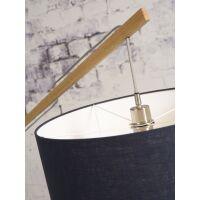 Stehlampe Montblanc aus Bambus und Leinen Leinen dunkel