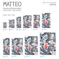 Vinyl Teppich MATTEO Flamingo & Zebra