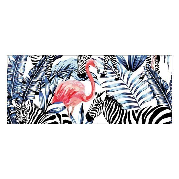 Vinyl Teppich MATTEO Flamingo & Zebra 50 x 120 cm