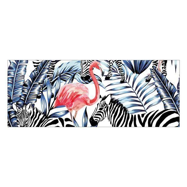 Vinyl Teppich MATTEO Flamingo & Zebra 70 x 180 cm