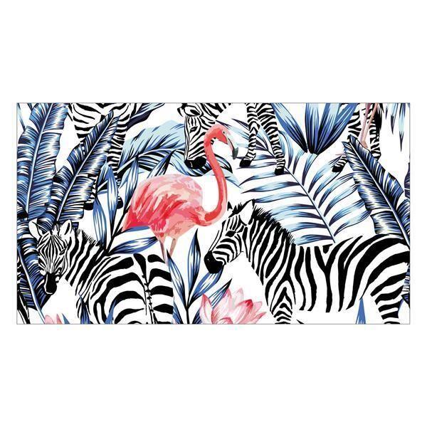 Vinyl Teppich MATTEO Flamingo & Zebra 90 x 160 cm