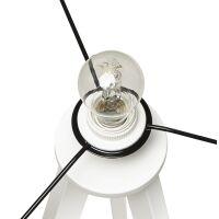 Stehlampe TRIVET grau-weiss