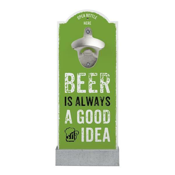 Wand-Flaschenöffner GOOD IDEA grün