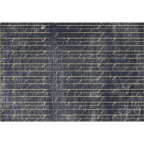 Vinyl Teppich MATTEO dunkelgrau Art Nouveau 3 140 x 200 cm