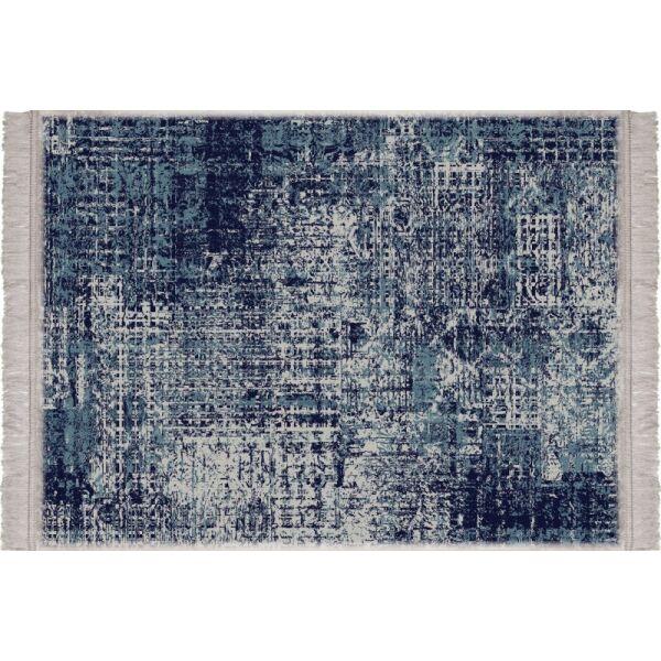 Vinyl Teppich MATTEO Used Rug Blue