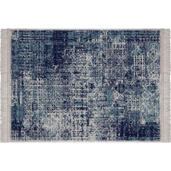 Vinyl Teppich MATTEO Used Rug Blue 40 x 60 cm